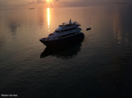 blue Voyager sunset, Maldives. Credit to Stephen-John Rado