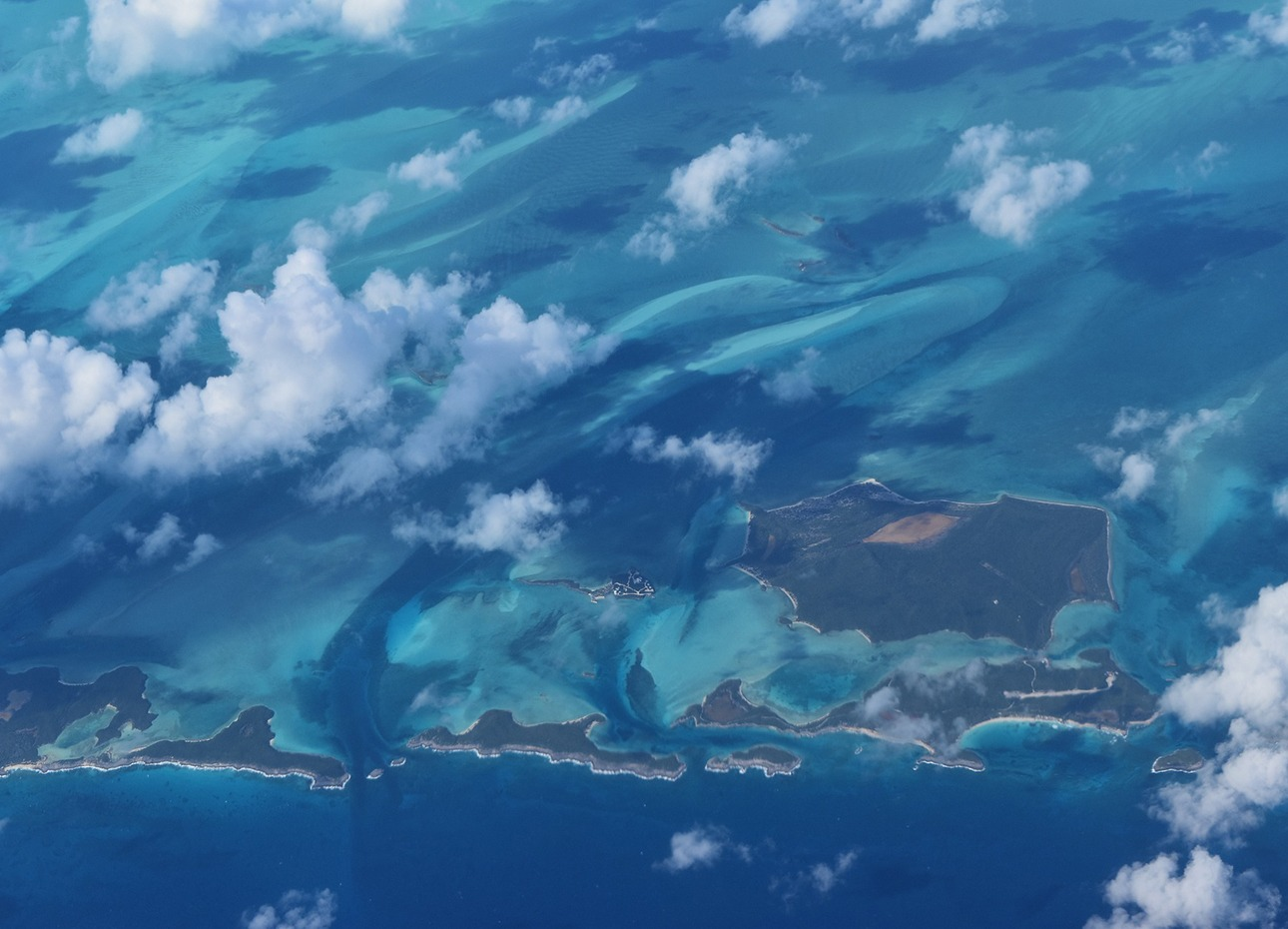 islands-in-the-bahamas-taken-through-the-clouds-from-a-plane