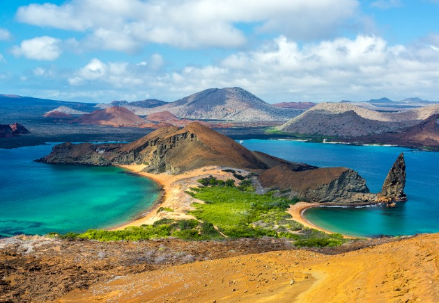 The Galapagos islands landscape