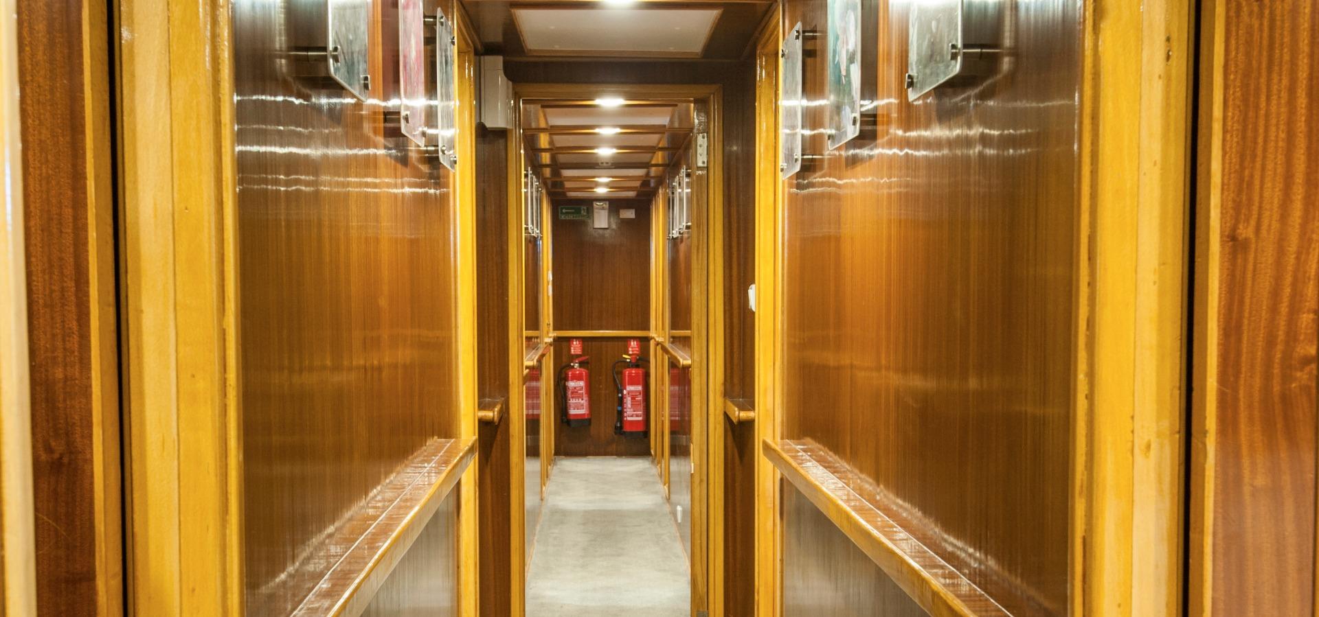 corridor aboard M/y blue Melody Red Sea liveaboard vessel