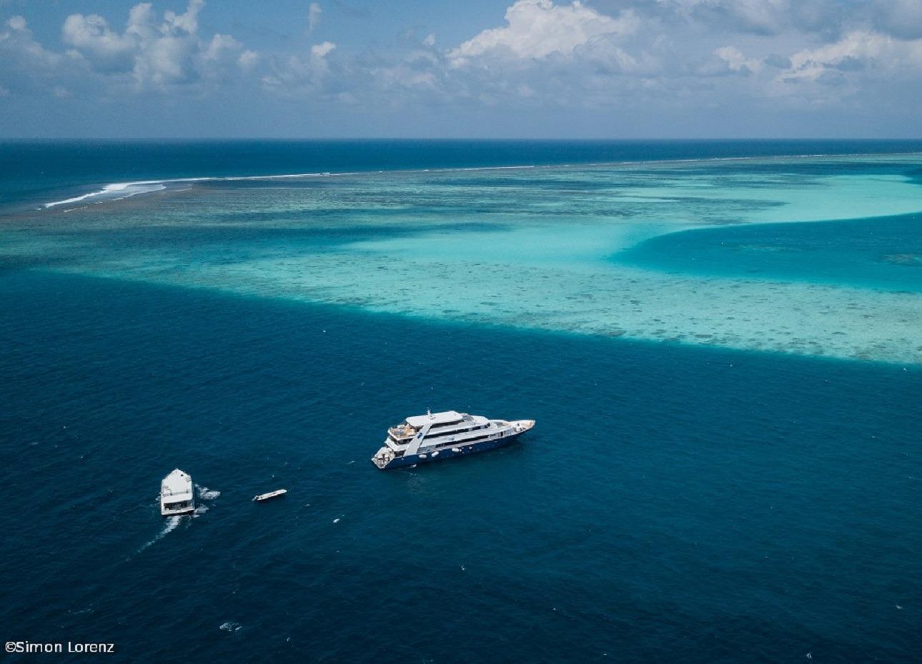 Blue Voyager exploring the Indian Ocean, Maldives, image credited to Simon Lorenz