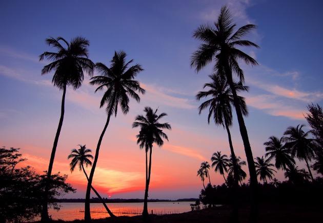 Sunsets over a inspiring Sri Lankan  beach image