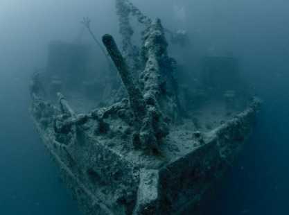 Bow of the Rosalie Moller in the Red Sea, Egypt
