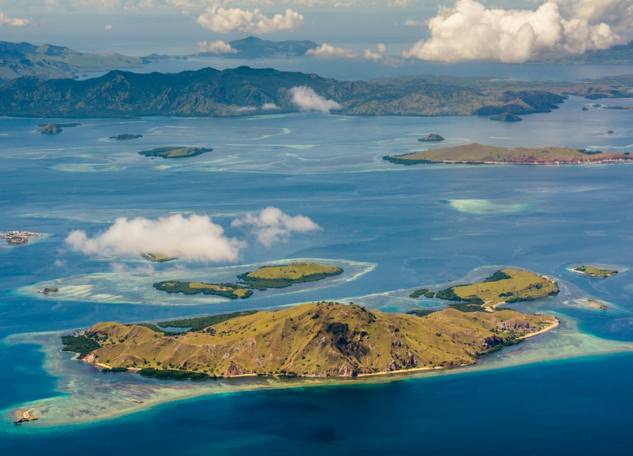 An island of Komodo National Park in Indonesia