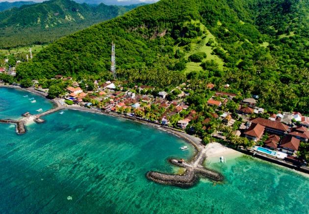 Indonesia Bali, Waterfront Jettys, Resort, image,