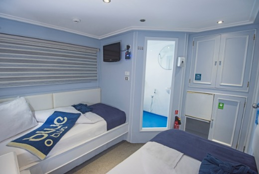 M/Y blue Fin liveaboard diving vessel twin cabin with en-suite
