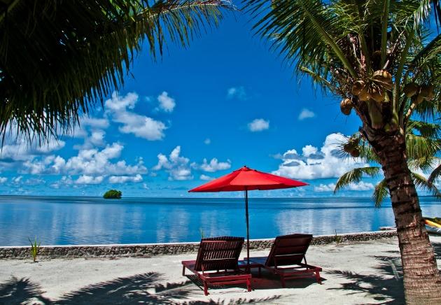 resorts and land based diving Palau