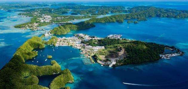 Palau Islands, arial view, Palau archipelagos, image,