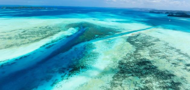 Palau Islands, 6 nights, wide angle arial, image,