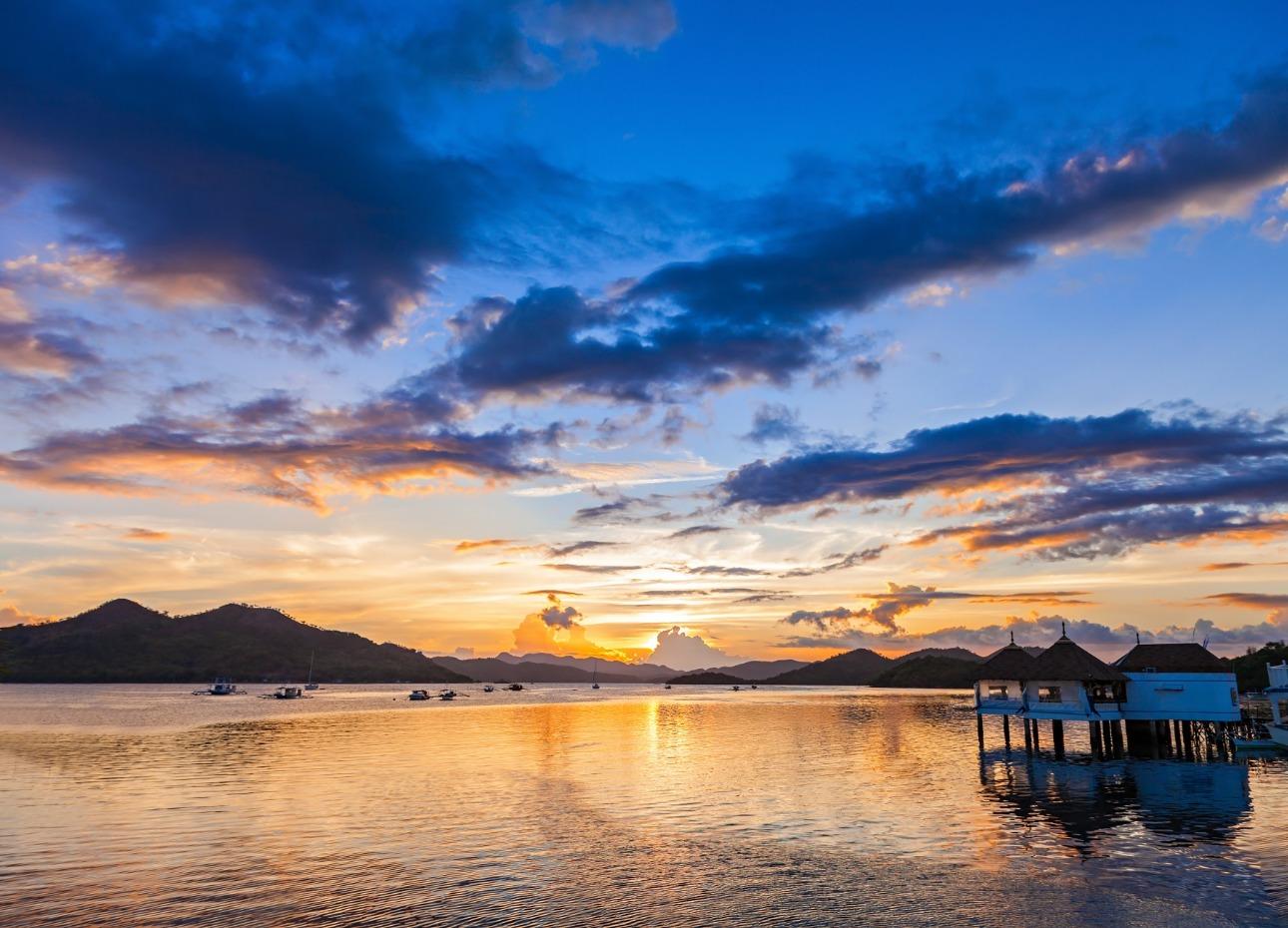 Philippines, Resort, Sunset, image,