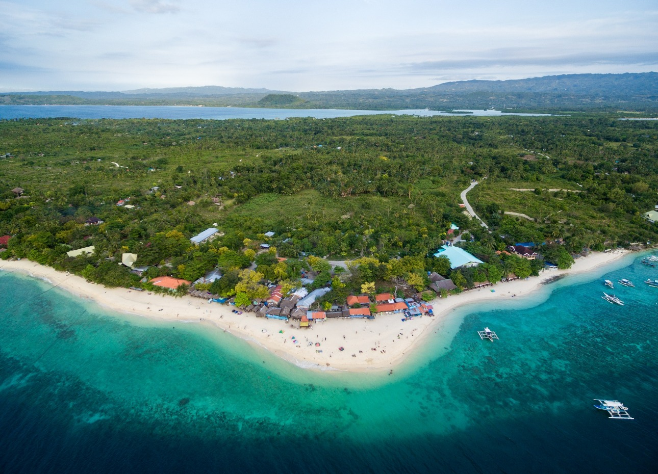 Philippines, Looking down on resort, image,
