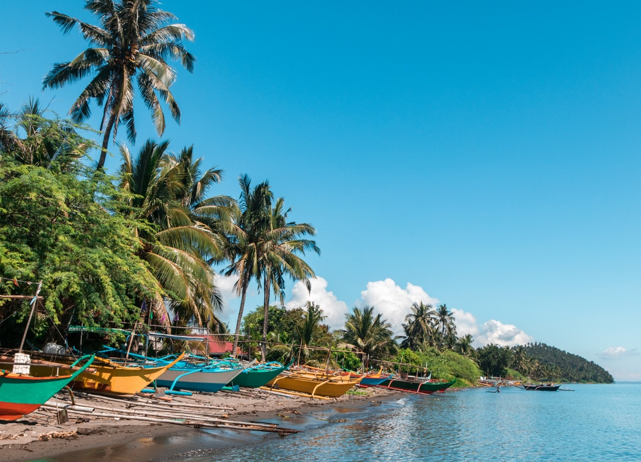 Philippines, Resort, Boats on the beach, image,