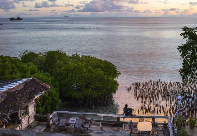 Truk Lagoon resort view