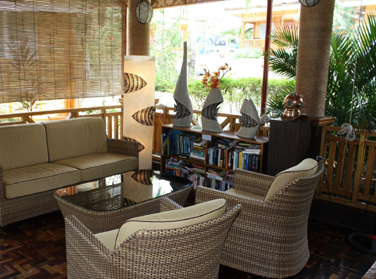 Philippines, Moalboal Magic Island, Dive Resort, Cottages, Lounge, image,
