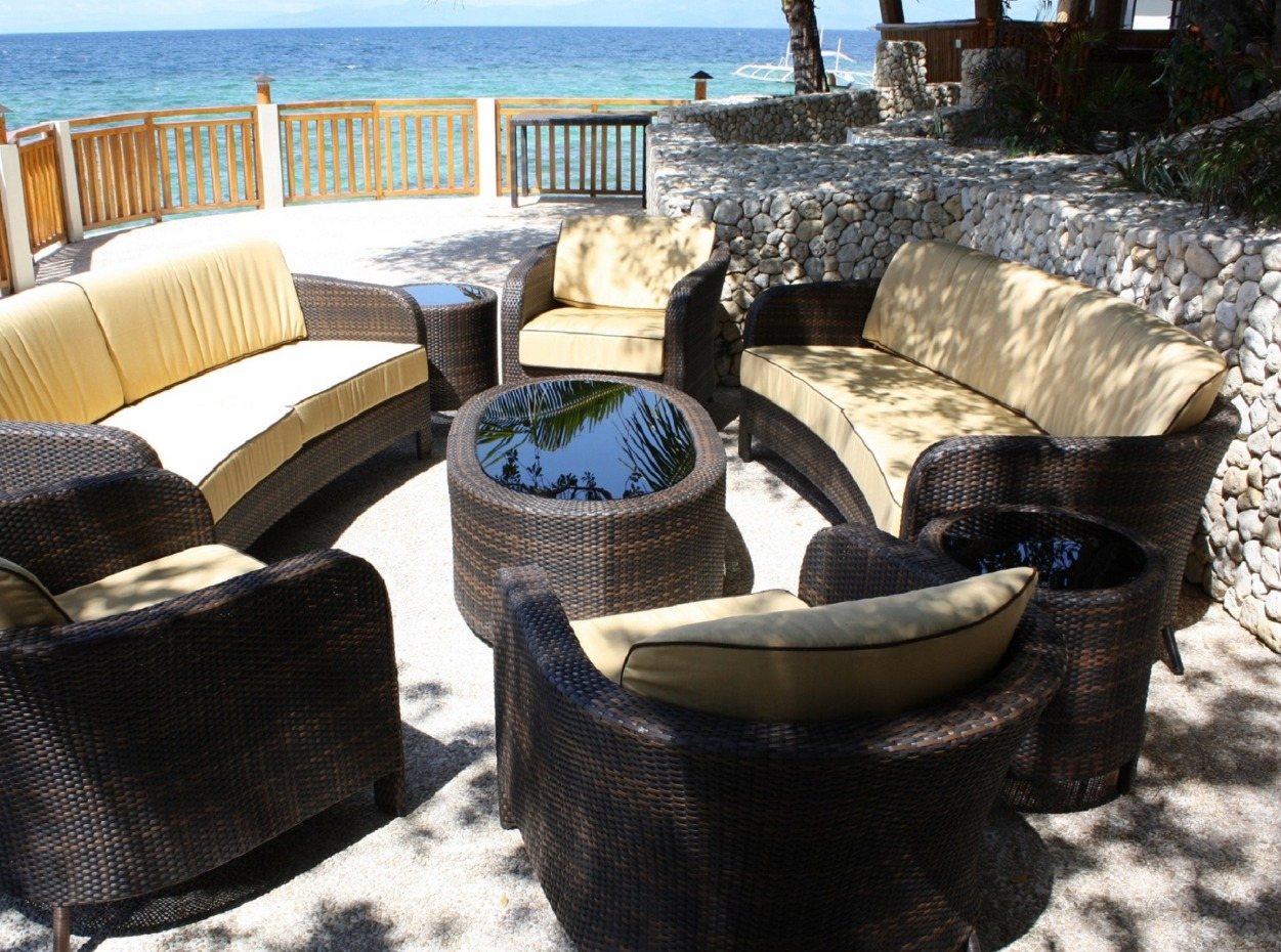 Philippines, Moalboal Magic Island, Dive Resort, Cottages, Seating, image,
