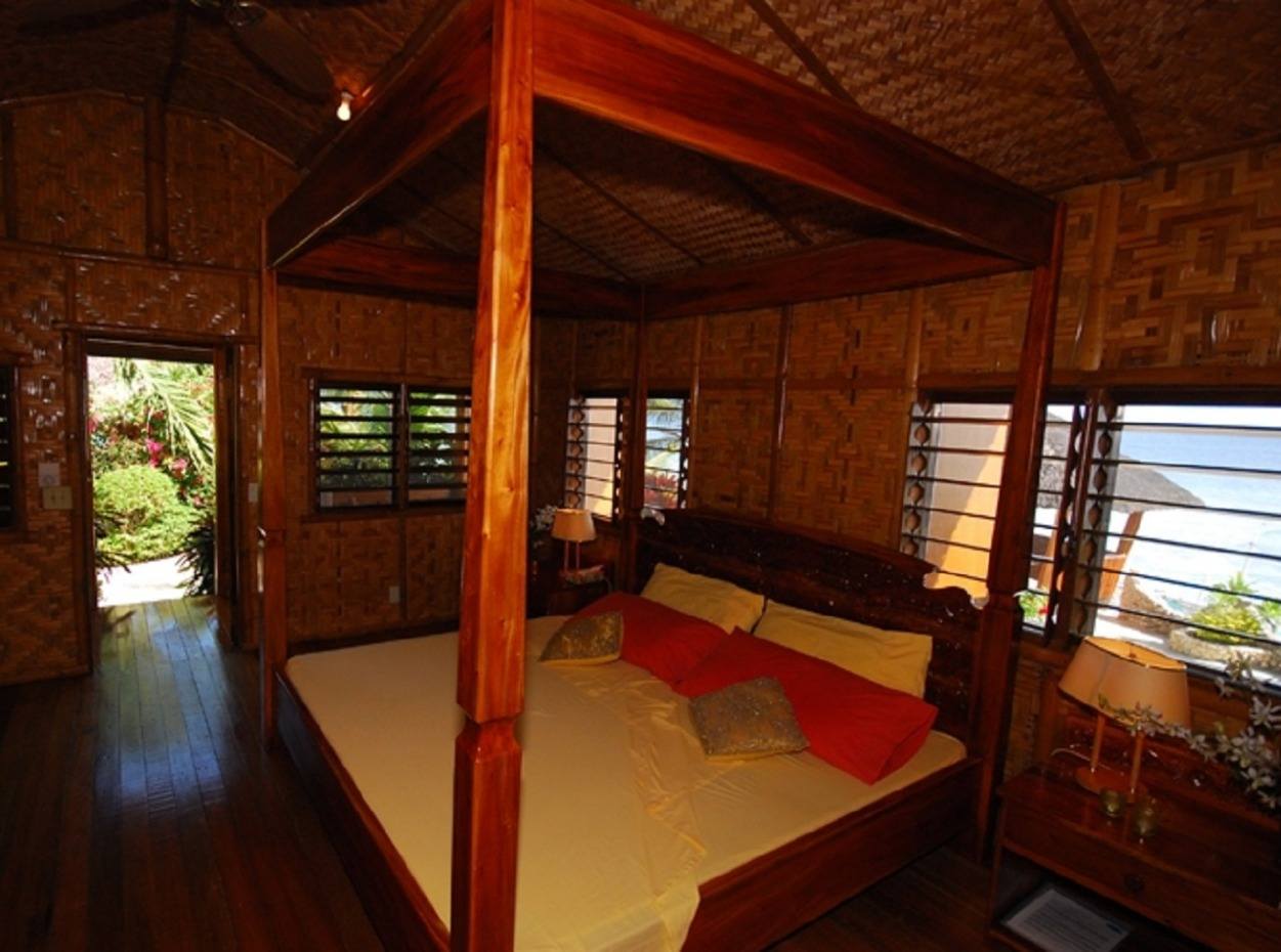 Philippines, Moalboal Magic Island, Dive Resort, Cottages, Four Poster, image,