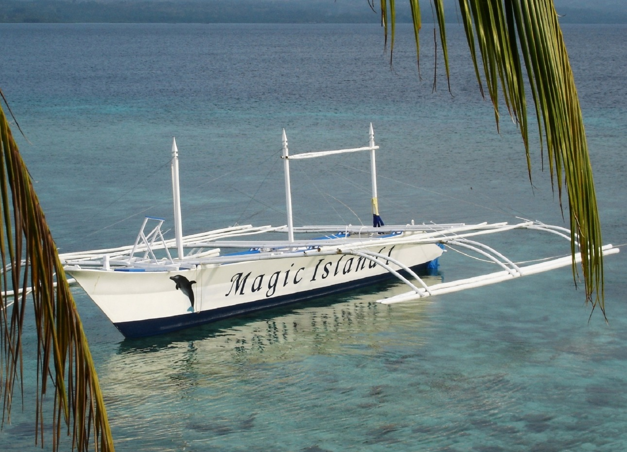 Philippines, Moalboal Magic Island, Dive Resort, Cottages, Dive Boat, image,
