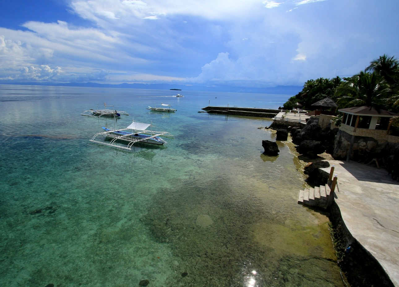 Philippines, Moalboal Magic Island, Dive Resort, Cottages, Waterfront, image,