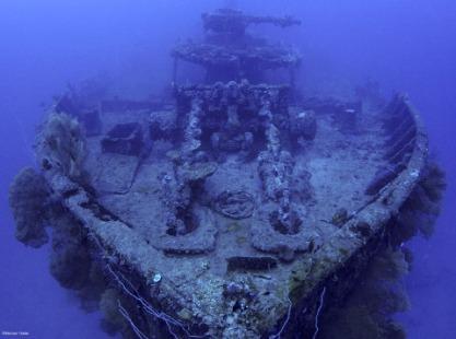 Truk Lagoon, Nippo Maru dive site. Credit to Werner Thiele