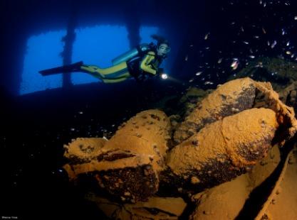 Truk Lagoon, Yamagiri Maru dive site, credit to Werner Thiele