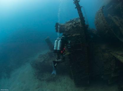 Prinz Eugen wreck dive site, Bikini Atoll