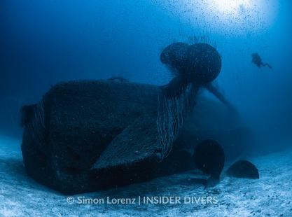 USS Anderson dive site wreck, Bikini Atoll