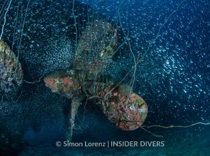 USS Apogon dive site wreck, Bikini Atoll
