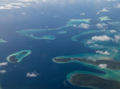 Solomon Islands, Coral, Aerial, image