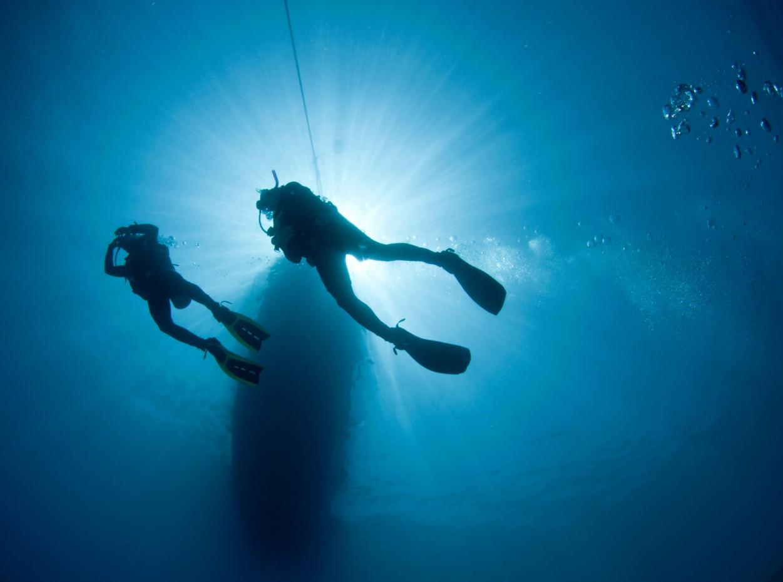 Scuba divers in Egypt, Red Sea